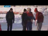 Экс-капитан сборной России по футболу Алексей Смертин провел для барнаульцев тренировку на льду